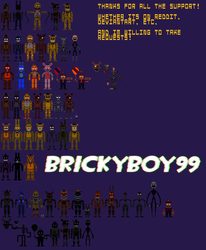 [Pixel Art] FNAF Characters by Brickyboy99