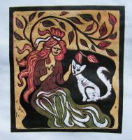 Color linocut by gosia-jasklowska