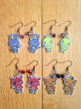 Five Nights at Freddy's - Chibi Earrings by girl-of-fire