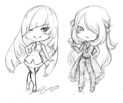 Wip- Lusamine and Cynthia by Ornithogale