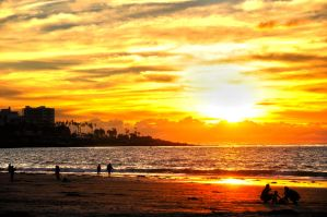 Sunset in La Jolla Shores by mnjul