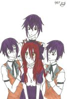 Roise and the Thompson triplets by KiyaSparleVampire