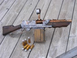 Nerf Steampunk Rifle 2 by sonic-reducer
