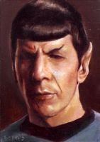 Spock card 420 by charles-hall