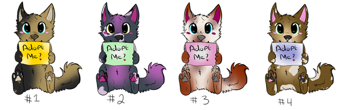 Puppy Adopts (OPEN) by PygmyOwls