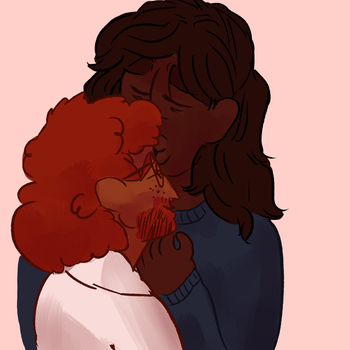 forehead kiss by crepuscine