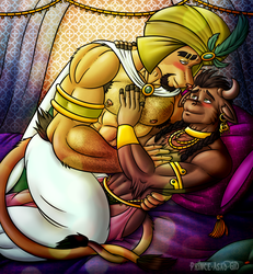 Asad and Abdel Love -Anniversary Gift- by Wolfan-foxD