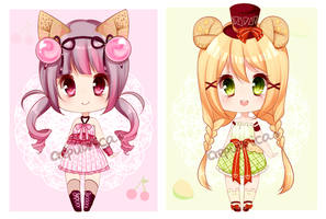 Crepuunica Adopt #1 and #2 - CLOSED by crepuunica