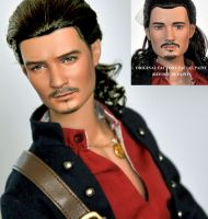 Doll Repaint - Will Turner by noeling