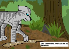 Jaypaw and his stick by kathleens-art