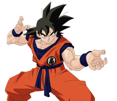 Son Goku Render/Extraction PNG by TattyDesigns