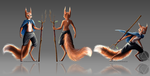 Squirrel Character Concept + speedpaint by CynicArcane