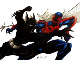 Batman Beyond Vs Spiderman 2099 by MikeES