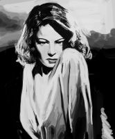 Gene Tierney by Ink-Orporate