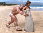 Hercules and Deianira: Life is a Beach by SimonWM