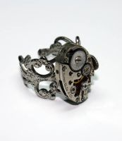 Steampunk Adjustable Ring 4 by Create-A-Pendant