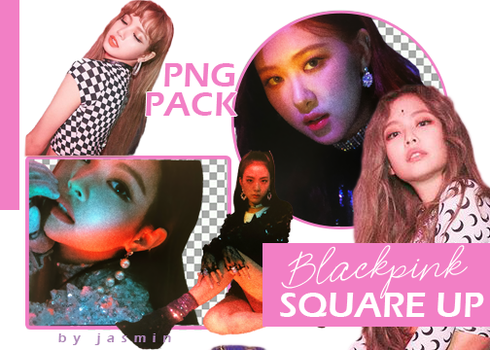 Blackpink Square up png pack by jasmin by taehub