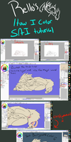 Rello's: How I Color Tutorial (SAI) by R3llO