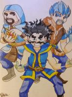 THE THREE WIZARDS!!!! :D by Aligamer005