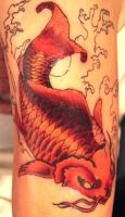 Koi Tattoo (unfinished) by teedark