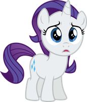 Upset filly Rarity by Osipush