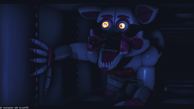 (SFM FNAF)Funtime Foxy in the vent by MCMARSIK