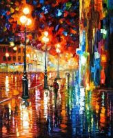 The Tempo Of The Rain by Leonid Afremov