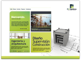 website: FHC ingenieros by Aguiluz