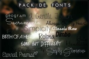 #Especial de Fonts -END- [Pack de Fonts  5/5] by FranceEditions