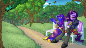 Commission - A Day in the Park by KittehKatBar