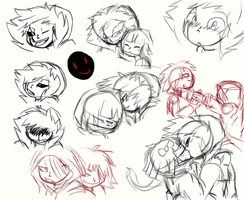 Pyromaniac rough sketches by sonicfangirl666