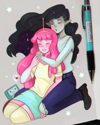 Marceline and Bubblegum by larienne