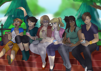 Lunch break by Sakura-Rose12