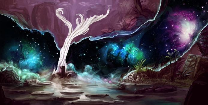 The Tree of Stars by Paperheadman