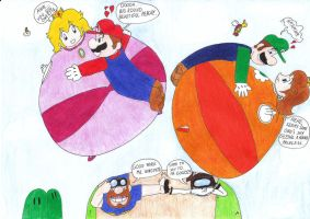 Skylove on the Mushroom kingdom fileds by Ginzo25