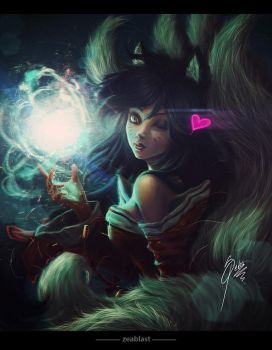 AHRI league of legends by Zeablast