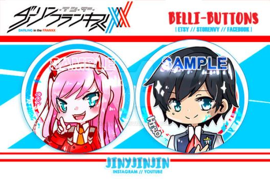 Darling in the Franxx button set by jinyjin