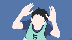 Akaashi Keiji (Haikyuu!!) Minimalist Wallpaper by greenmapple17