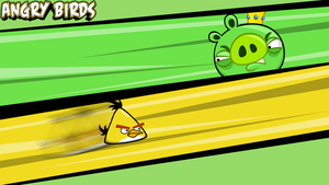 Angry Birds wallpaper Yellow by vyndo