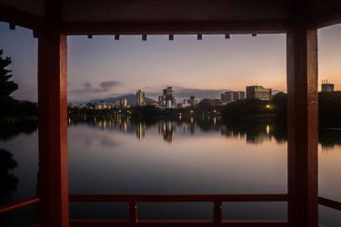 Fukuoka in the evening by LunaFeles