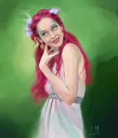 Pink - Paint Sketch 2013-10-20 by iamniquey