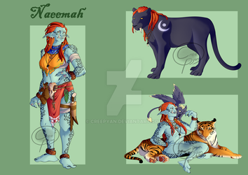 Naeemah - Commission for Catcubus by Creepyan