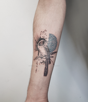 Abstract bird tattoo by SelfmadeTattooBerlin