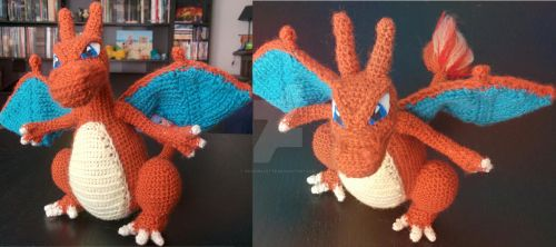 Charizard crochet by Cranibalette
