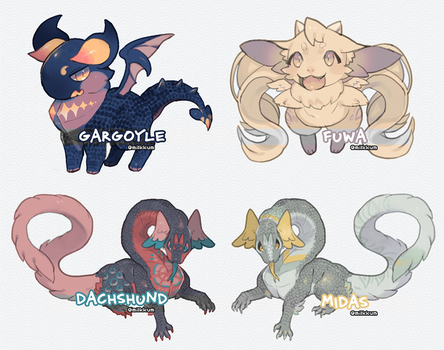 [open] tiny dragon adopts (reduced) by milkkun