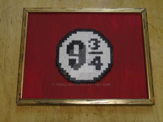 Harry Potter Platform 9 3/4 logo hama beads by THECLOUD96