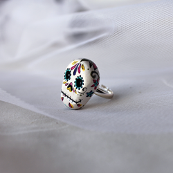 Sugar Skull Ring - Floral by heysugar