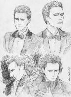 Hiddles-sketches by Abz-J-Harding