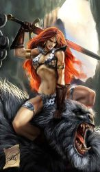 old red sonja cover by nebezial