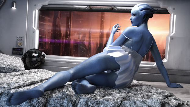 Mass Effect   Liara T Soni  Commission  By Chemicq by TheLivingEnigma